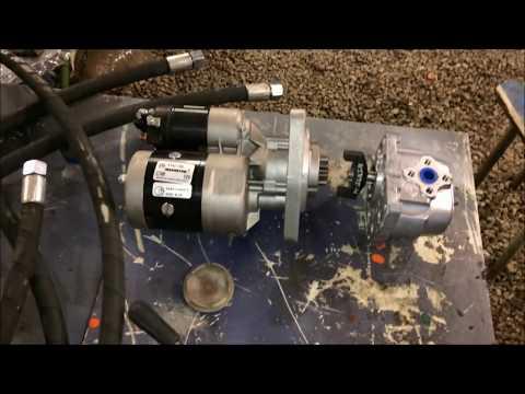самодельная гидростанция на газель. стыковка нш 10 и стартера