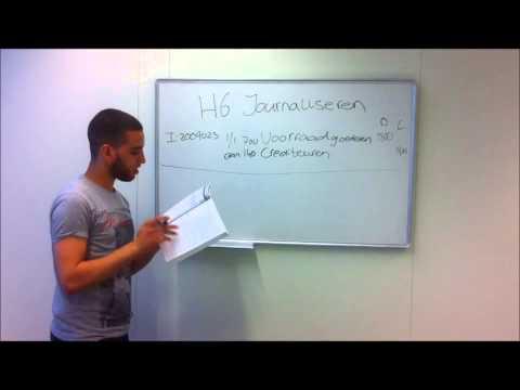 H6 journaliseren yassir, abdoulatif en Azeddine