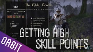 Elder Scrolls Online | How to get High Skill Points