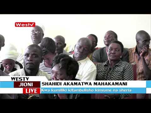 Shahidi katika kesi ya kupinga uchaguzi wa Raphael Wanjala ashikwa