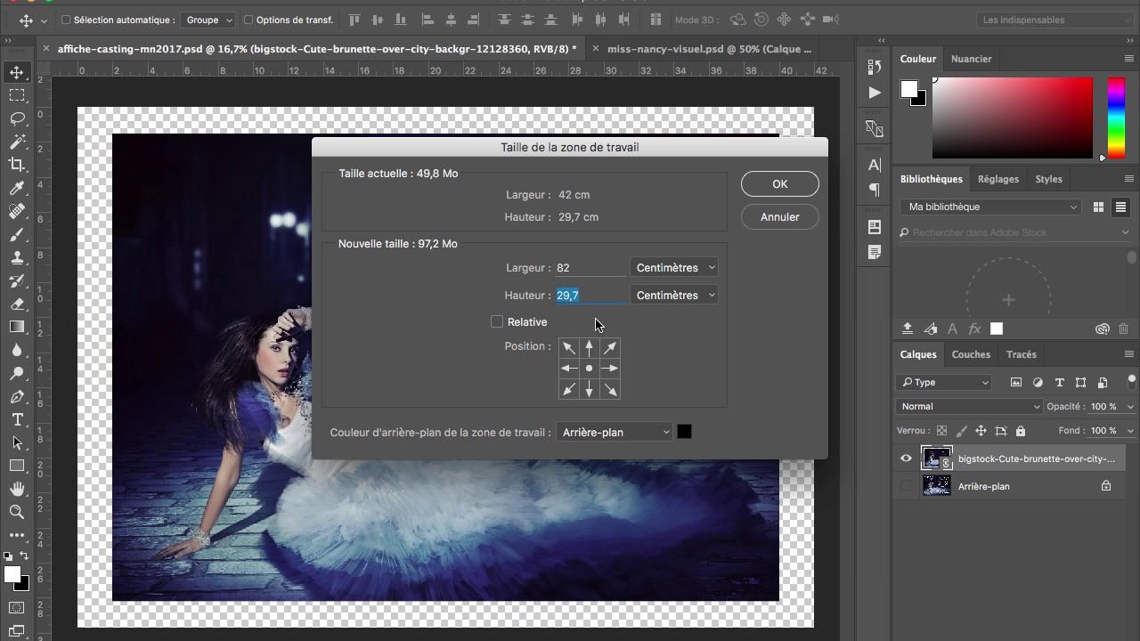 Apprendre Photoshop Changer La Taille Des Documents Youtube