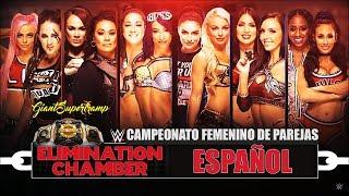WWE ELIMINATION CHAMBER 2019 - Campeonato Femenino en Parejas HIGHLIGHTS FULL HD