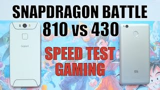 Snapdragon 810 vs 430 Speed test/Gaming/Benchmark/Comparison(Gigaset vs Xiaomi)Adreno 430 vs 505 GPU