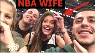 FLOOR SEATS TO SUNS vs LAKERS | Sat next to Suns players WIFE!!