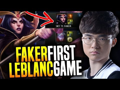 Faker First Professional Game With Leblanc! - That's Why Faker is The Best Leblanc in The World!