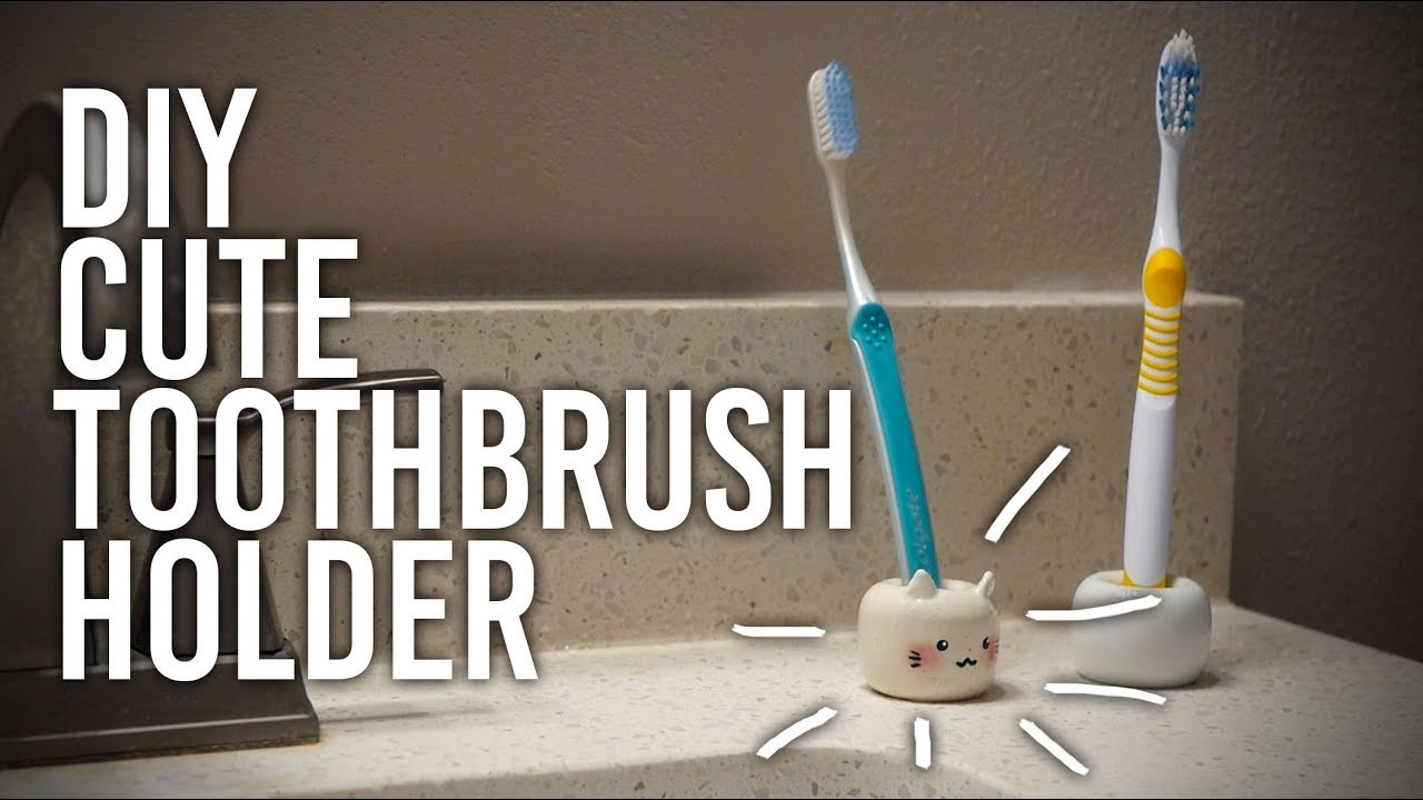 How To Make Polymer Clay Toothbrush Holder Diy Youtube