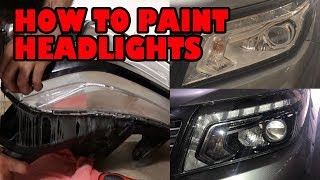 How to paint your headlights DIY