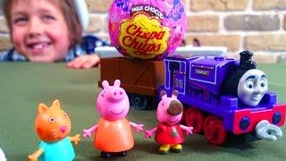 Распаковка игрушек Пеппы и Томаса. Видео для детей