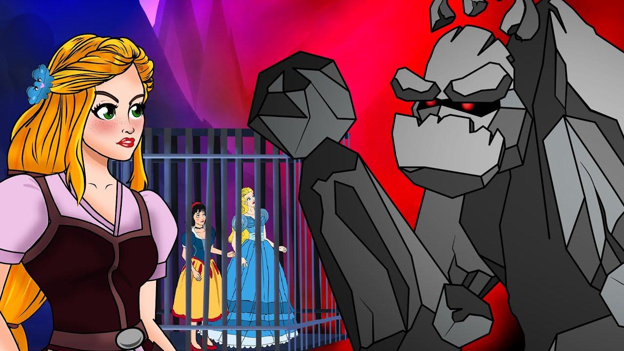 Roszpunka: Księżniczki Przeciw Czarownicom + Kopciuszek: 3 Czarownice | Bajki po Polsku | Kreskówka