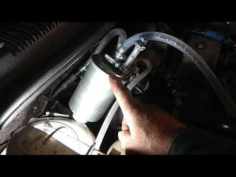 Форд транзит Коннект завоздушевание системы подачи топлива по фильтру ..