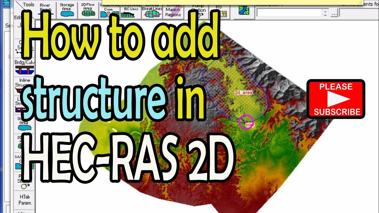 How To Add Structure In 2d Only Hec Ras 50 Youtube