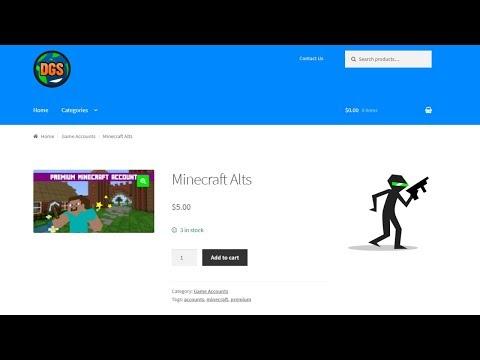 ALT SHOP + FREE MINECRAFT ALTS | GamerHow | Gamers