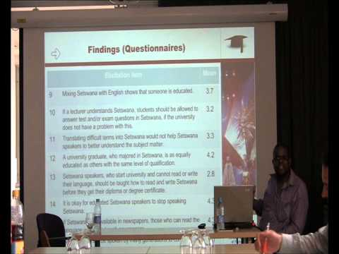 Thabo Ditsele - Perceptions of Black South African languages