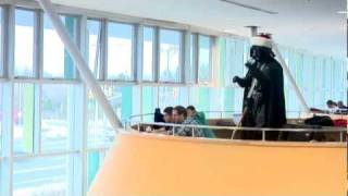 Darth Vader conducts Christmas Choir Flash Mob - Carol of the Bells thumbnail