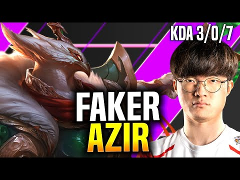 FAKER SHOWING HIS AZIR! - SKT T1 Faker Azir vs Fizz Mid! | Season 2020 KR SoloQ