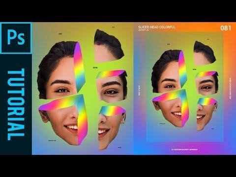 Sliced Head Colorful Ala Magdiel Lopez - Tutorial Photoshop CC 2019