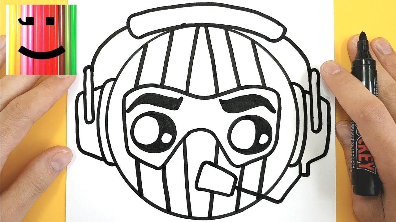 Coloriage Fortnite Graffeuse.Tuto Emoji Rapace Fortnite Comment Dessiner Rapace Tuto Dessin