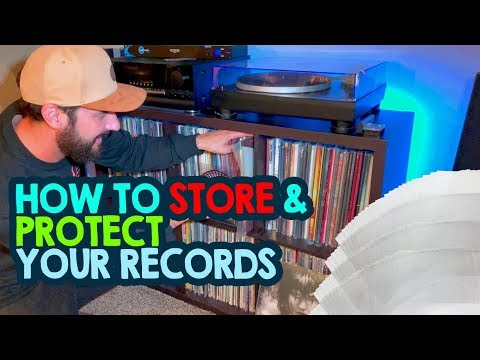 How to Store and Protect Vinyl Records + Inner / Outer record sleeves