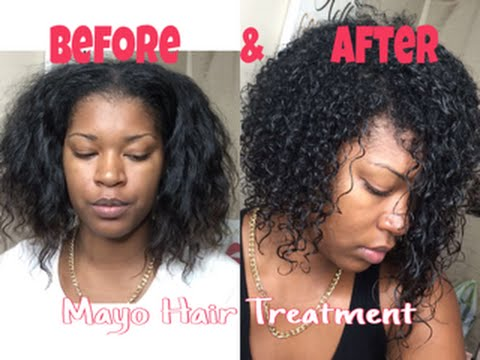 diy mayo hair treatment heat damaged hair before and after iambsounique1 youtube