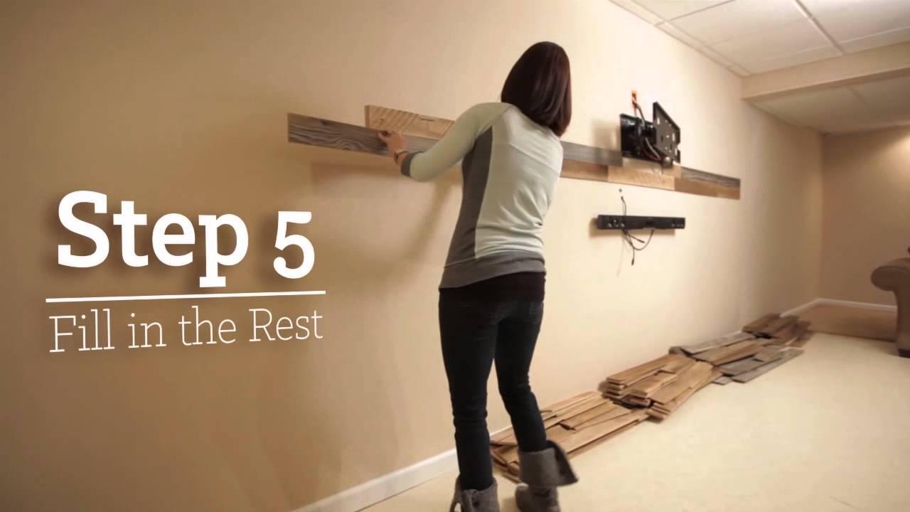 Installing PlankWood Genuine Reclaimed Wood Planks  YouTube