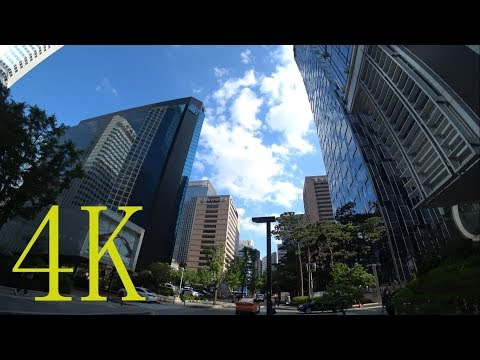 [ 4K ] Korea,  Walking around from Seoul City Hall to Jonggak Station , 서울시청에서 종각역까지 주변 산책