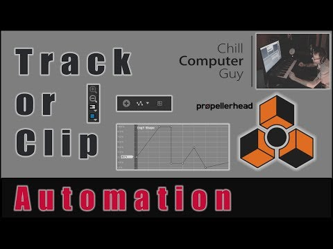Propellerhead Reason Quick Tips: Automation pt.1 Track or Clip