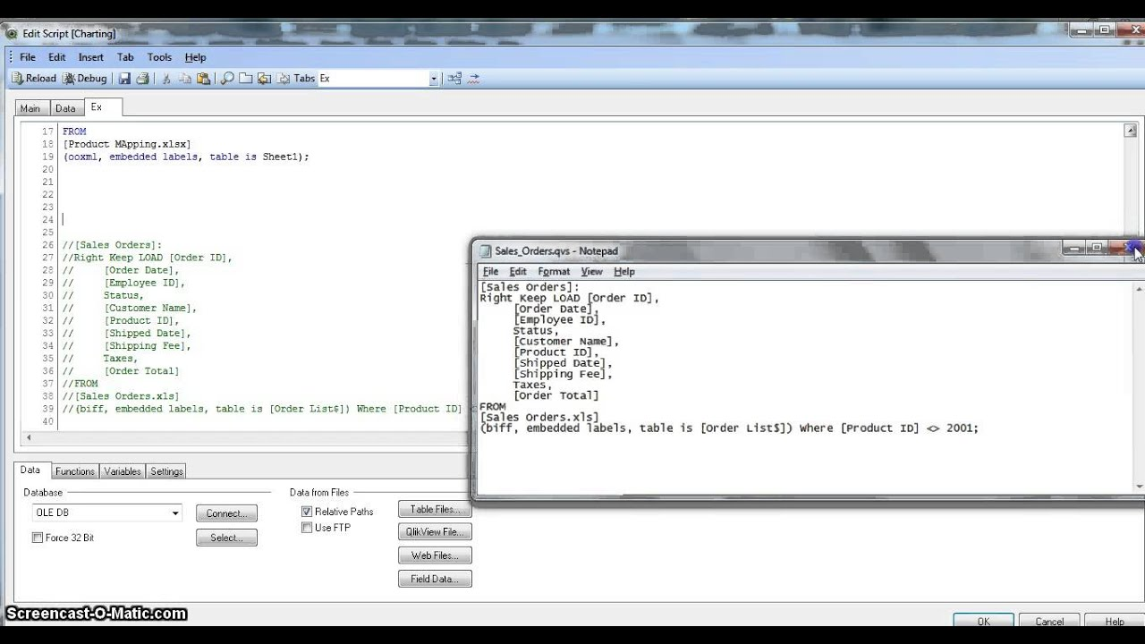 QlikView Tutorial | QlikView Scripting | How to Include External Scripts in  qlikview