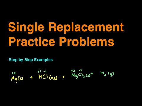 Single Replacement Reaction Practice Problems & Examples