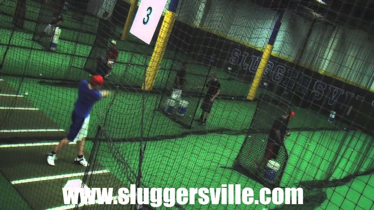 Indoor Batting Cages Philadelphia | Sluggersville - YouTube