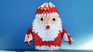 Модульное оригами для начинающих Дед Мороз видео урок-схема, пошаговая инструкция