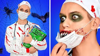 FUN SPOOKY HALLOWEEN COSTUMES IDEAS || DIY Scary Make up Hacks And Party Pranks By 123 GO! BOYS