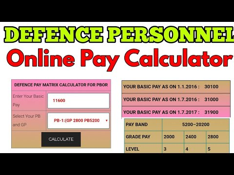 Pay calculator of 7th pay commission for defense personnel