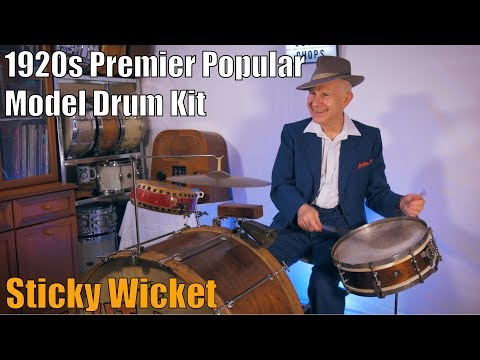 1920s Premier Popular Drum Kit And The Kit Kat Dance Band - Sticky Wicket