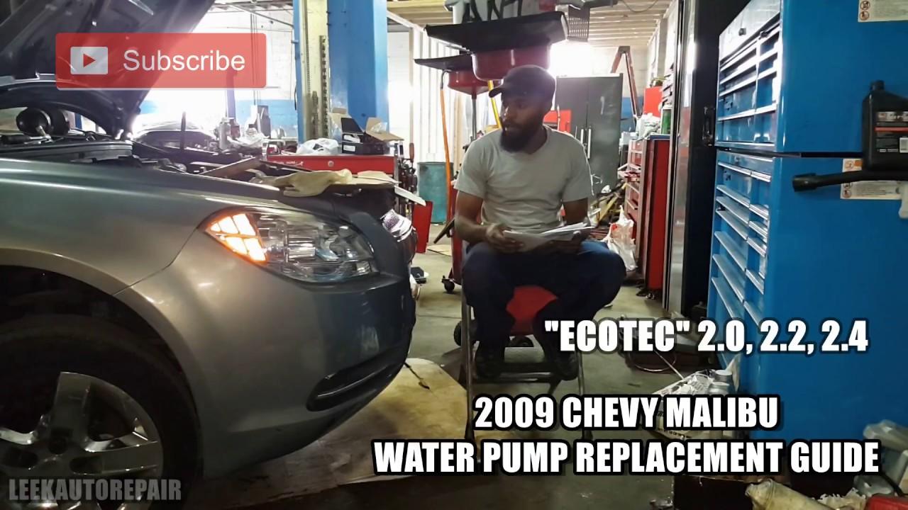 2008 2012 chevy malibu water pump replacement guide [ 1280 x 720 Pixel ]