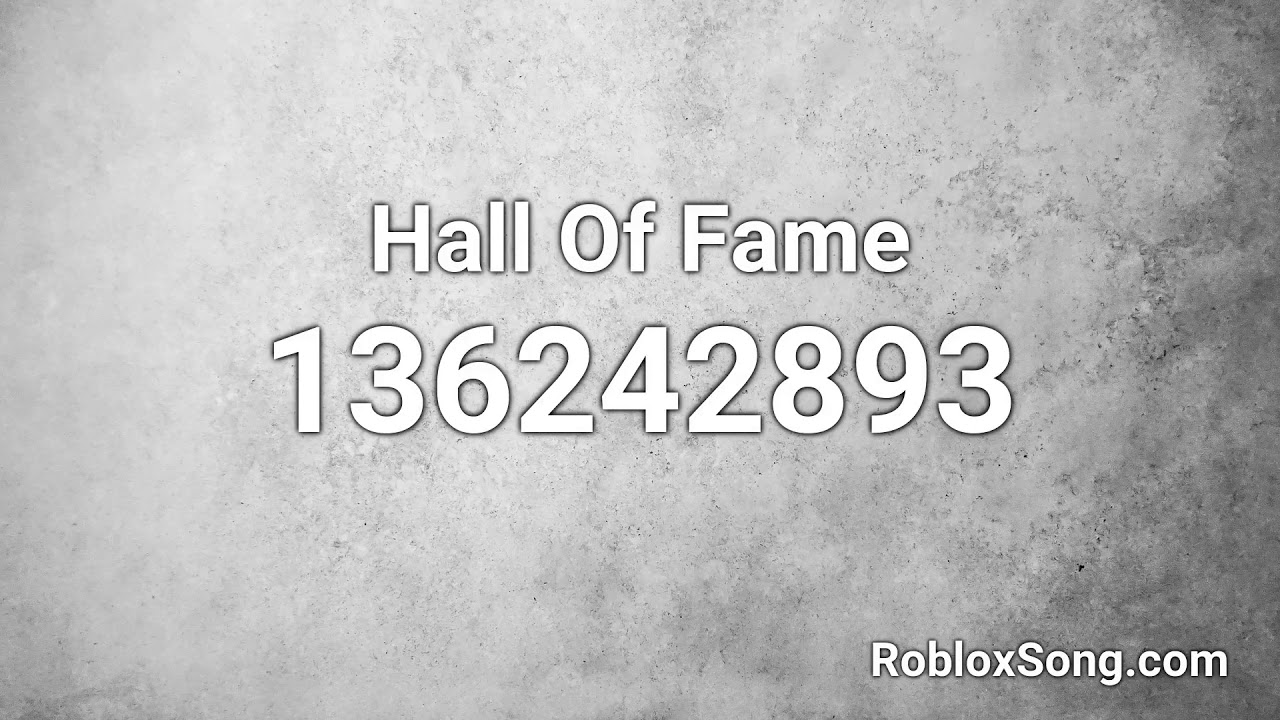 hall of fame roblox id
