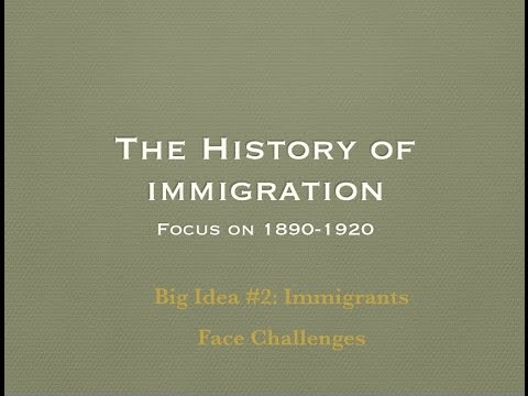 Immigration: Big Idea #2 Immigrants Face Challenges