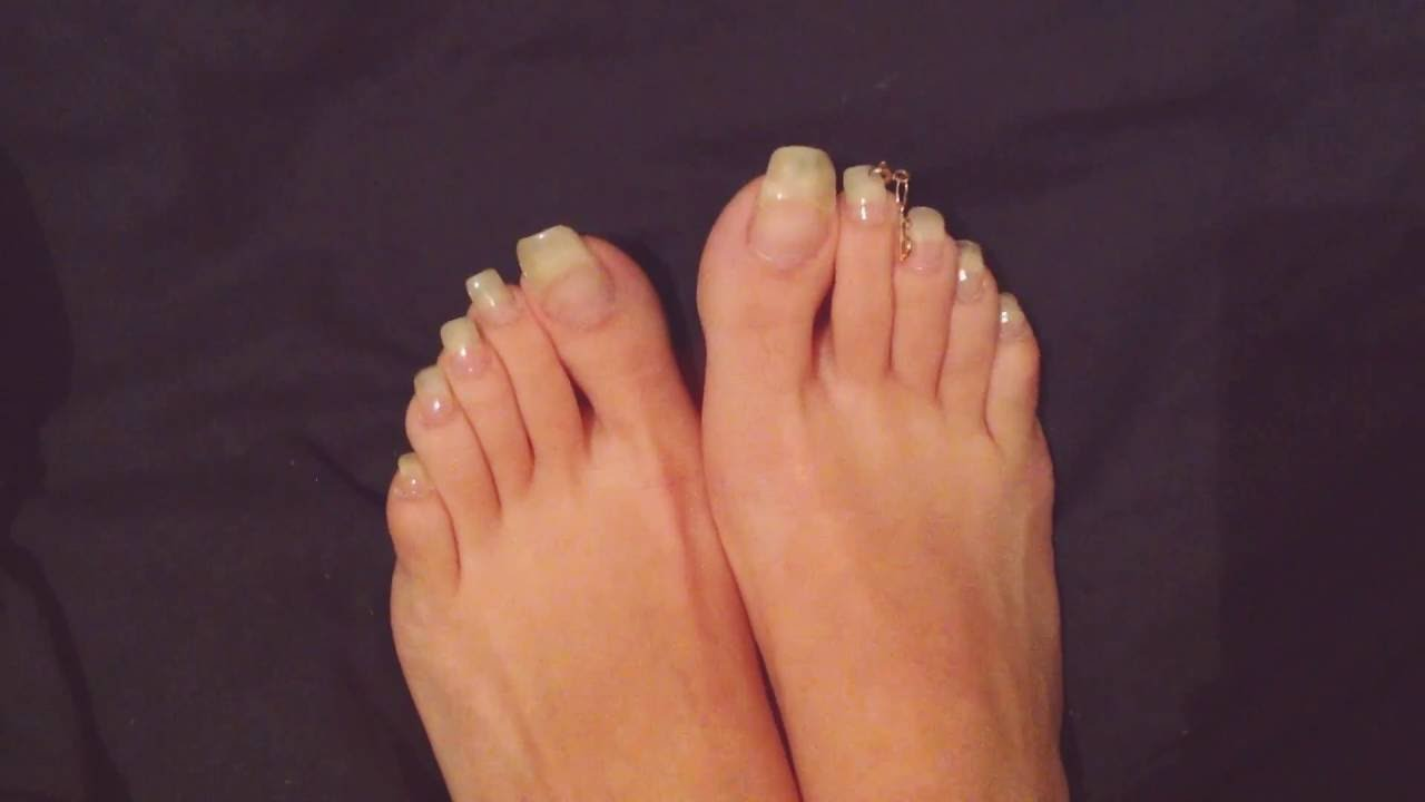 Toenails Long Nails NN: PEDICURE WITH DECORATION - YouTube
