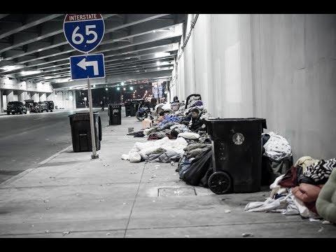 Jefferson Street Skid Row (Homeless Camp) Nov 2018 - Feb 2019 Downtown, Louisville Kentucky