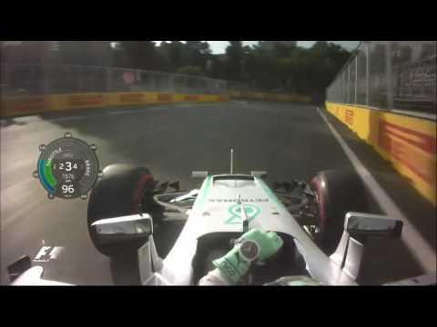 Azerbaijan Baku Grand Prix 2016 Nico Rosberg onboard pole lap