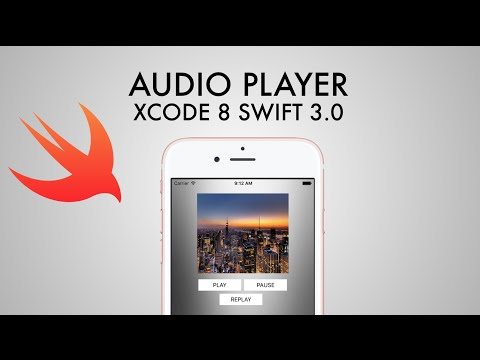 How To Create An Audio Player In xCode 8 (Swift 3.0)