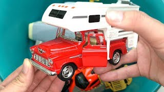 Toys Review and Learning Name Vehicles for Kids l Learn Colors for Children l Box Full of Toys