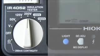 デジタル絶縁抵抗計の基本的な使い方