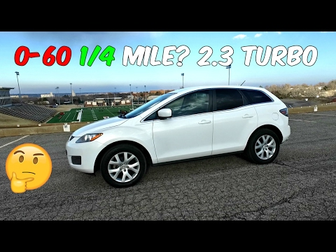 THE TEST:  Mazda CX 7 2.3 Turbo 0-60 1/4 MILE  0-100km/h