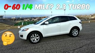 THE TEST:  Mazda CX 7 2.3 Turbo 0-60 1/4 MILE  0-100km/h