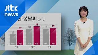 [날씨] 포근한 봄날씨…오전 미세먼지 '나쁨' / JTBC 아침&