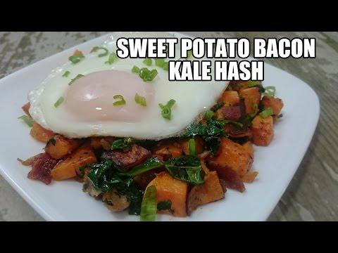 Sweet Potato Bacon Kale Hash Recipe | Episode 244