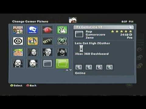how to change gamerpic xbox 360