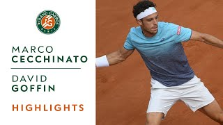 Marco Cecchinato vs David Goffin - Round 4 Highlights I Roland-Garros 2018