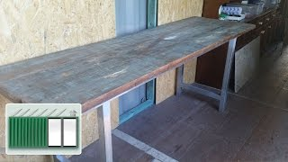 Shipping Container House – Building A Kitchen Bench Worktop