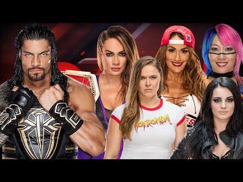 Roman Reigns vs Paige, Nikki Bella, Nia Jax, Asuka & Ronda Rousey